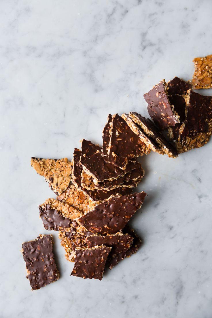 Almond Buckwheat Chocolate Brittle (Vegan + Gluten-Free)