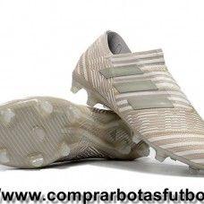 Cool Botas De Futbol Adidas Nemeziz 17+ 360 Agility FG Marrón Claro Sésamo Blanco