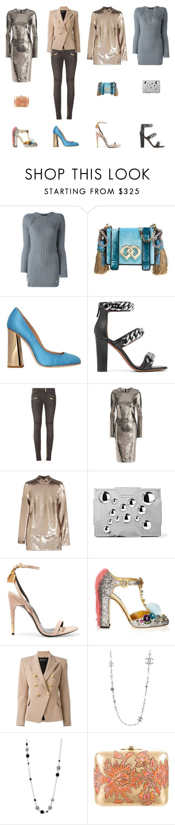 """""""real one"""" by queenbrown ❤ liked on Polyvore featuring Dsquared2, Givenchy, Balmain, Tom Ford, Lee Savage, Dolce&Gabbana, Chanel, John Hardy and Judith Leiber"""