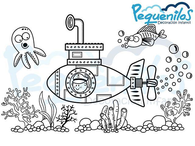 Pequenilos: Niño en submarino