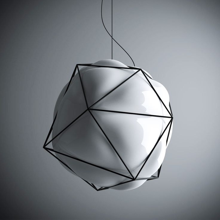 Alberto Saggia With Vistosi Designed A Blown Glass And Metal Glass Lamp  Using A Glass Blowing Technique And Then Structuring Metal Around The Glass