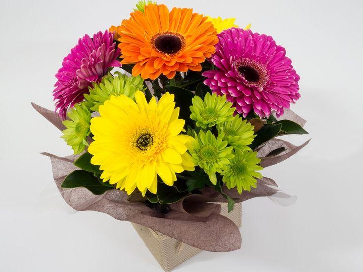 Rainbow box - gerberas https://bloominboxes.com.au/rainbow-box
