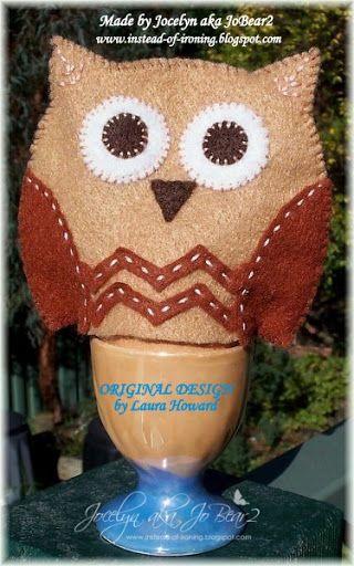 Felt Owl Egg Cozy