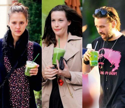 Jessica Alba, Liv Tyler, Colin Farrell grają w zielone