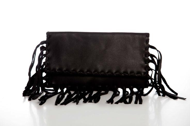 Eleanna Katsira Fringe Clutch Leather Bag