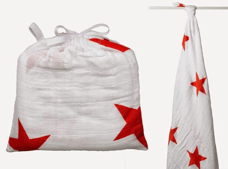 Banho e Cama : Aden + Anais - Swaddle Red Radiant -  Fraldas 100% musselina de algodão