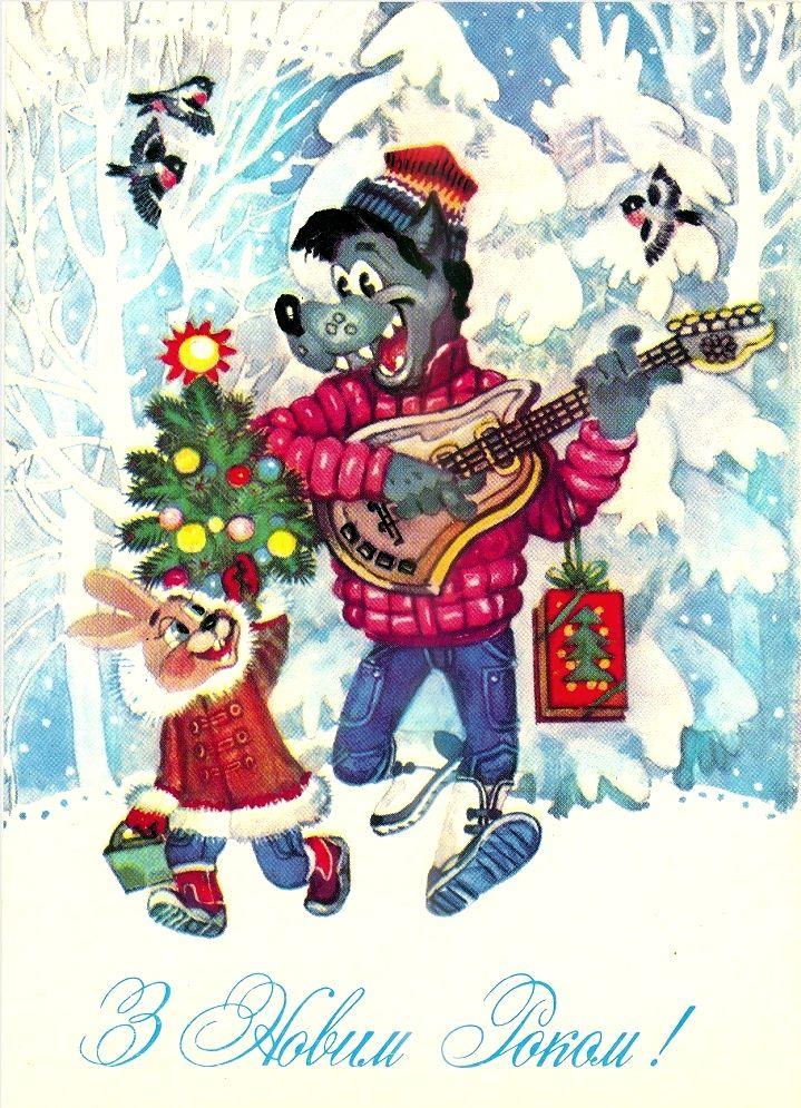 Рождественская открытка год свиньи мебельных
