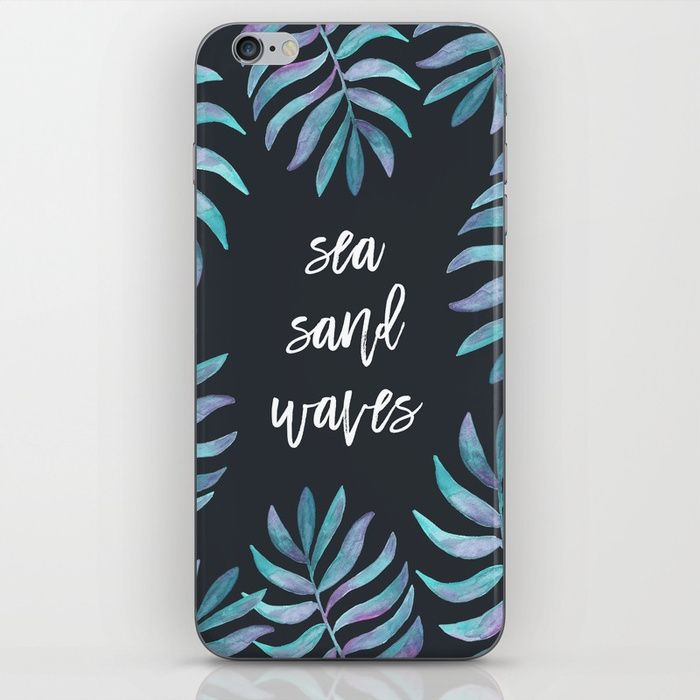 Sea Sand Waves by Kristen Laczi -  Typography design phone cases by independent artists.