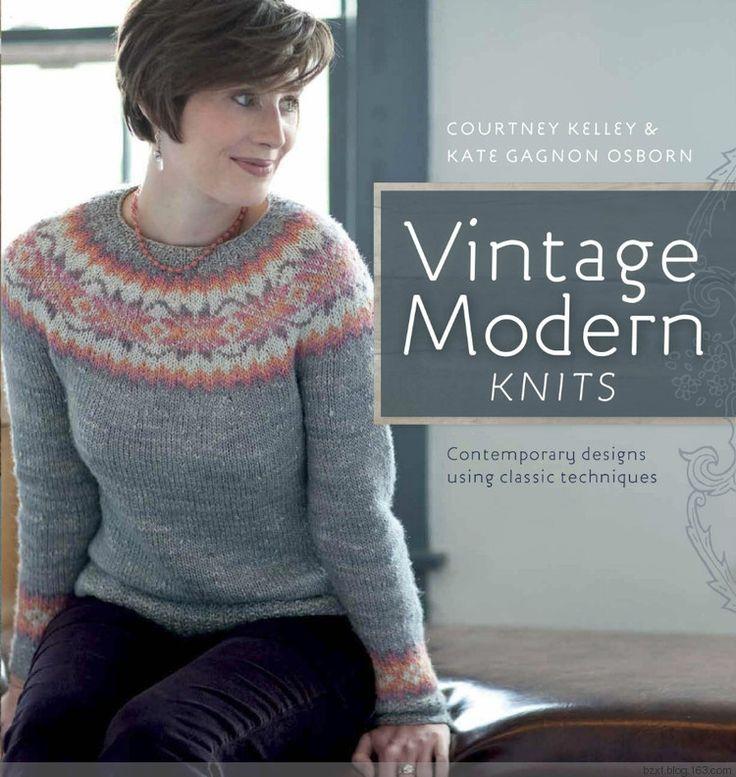 复古现代针织:当代的设计采用经典的技术 - 编织幸福 - 编织幸福的博客