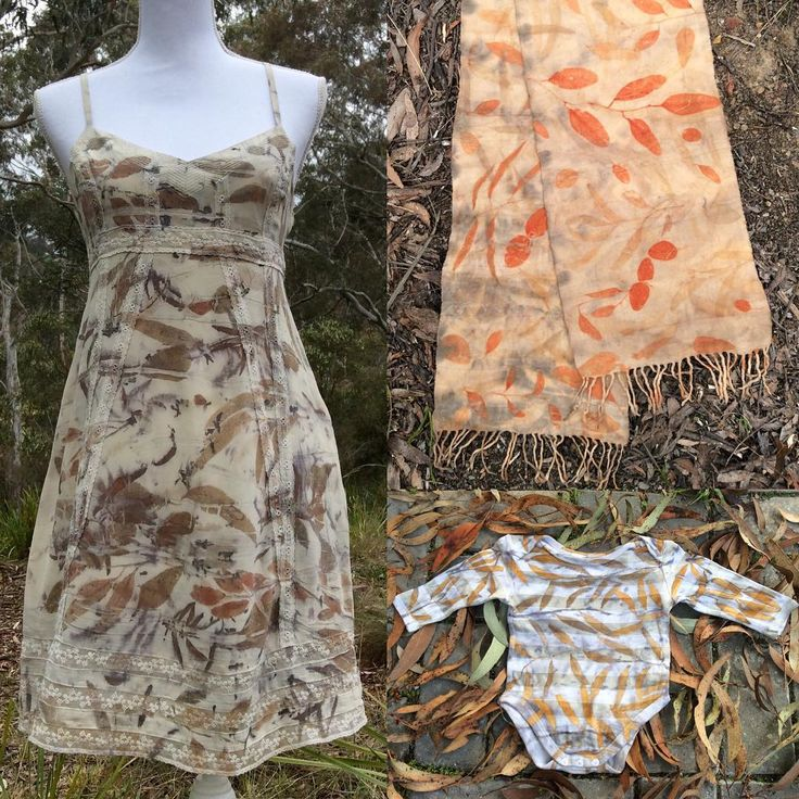 Eco-print, eco-dyed clothing by Gumnut Magic. Naturally dyed with the colours of nature.