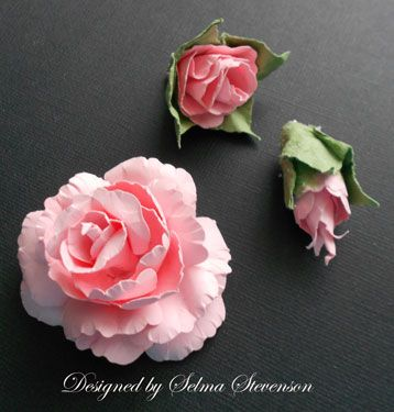 Selma's Stamping Corner: Tutorial for Creating Roses Using Punches