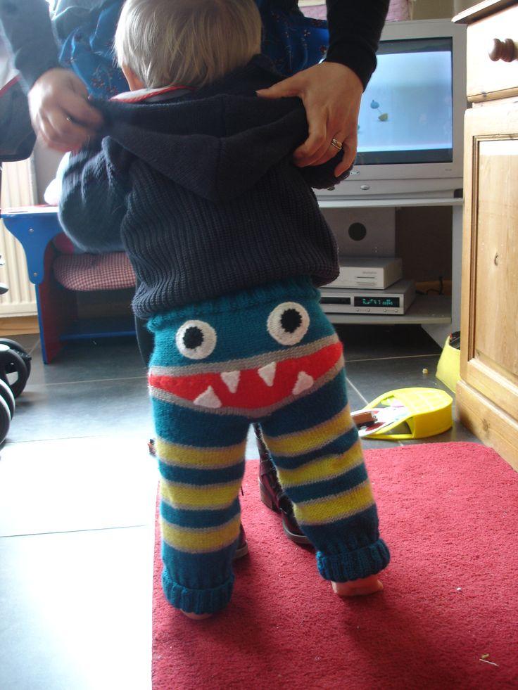 My Grandson wearing The Monster Leggings