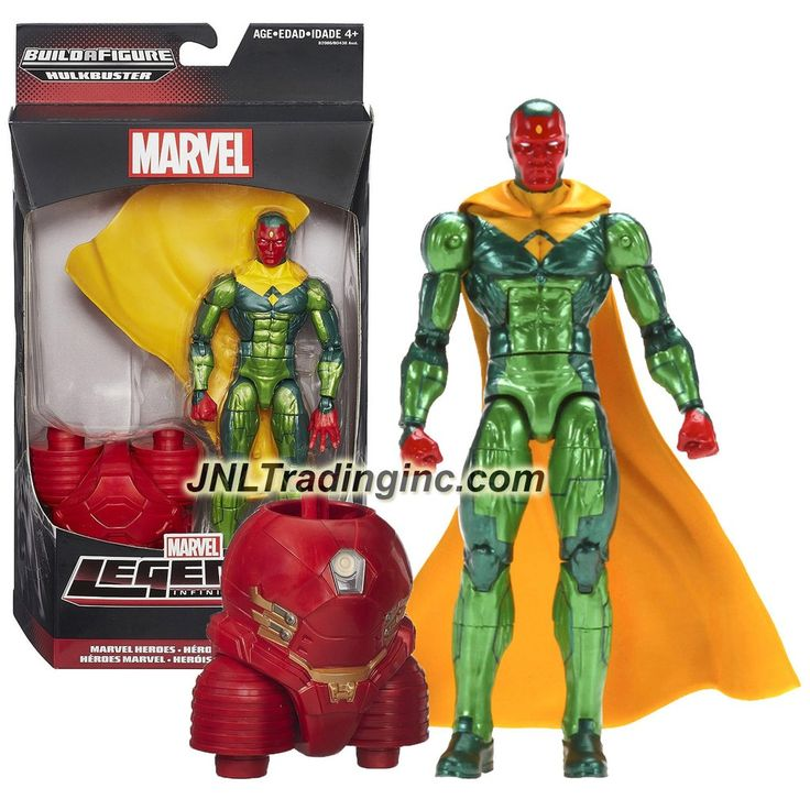 "Hasbro Year 2015 Marvel Legends Infinite Series Build a Figure ""HULKBUSTER"" Series 6 Inch Tall Action Figure - Marvel Heroes VISION with Removable Cape and Hulkbuster's Lower Abdomen"