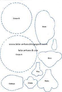 ! *Prática e Criativa* !: Galinha da Angola porta pano de prato (molde)