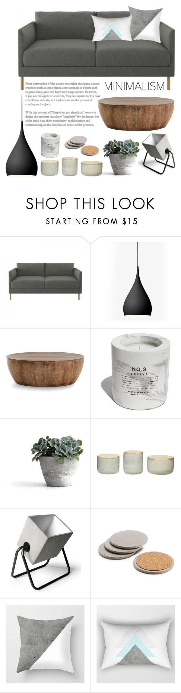 Living room concrete by artbyjwp ❤ liked on polyvore featuring interior interiors