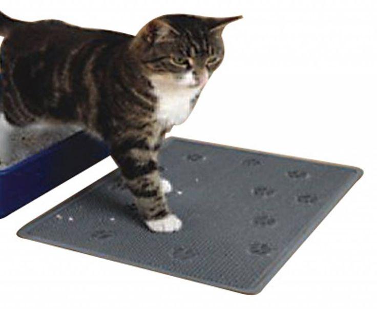 Kattenbakmat in de kleur grijs om voor uw kattenbak te leggen. Bestel uw kattenbakmat voordelig online www.dierenvilla.nl