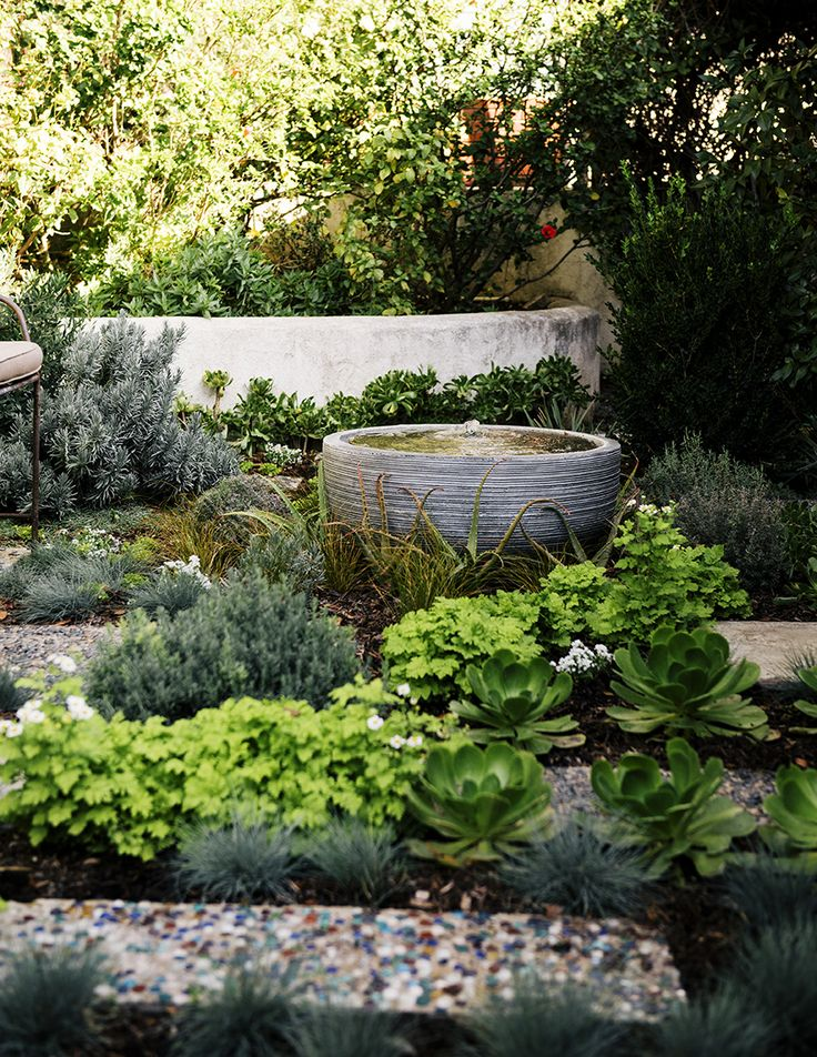 small contemporary stone water feature