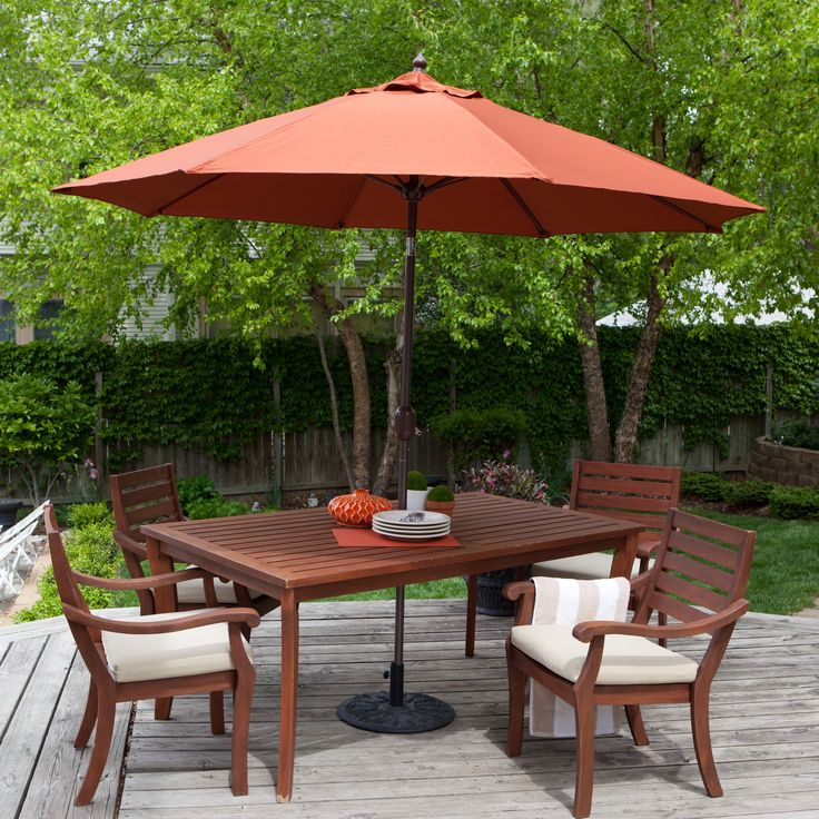 Coral Coast Push Button Tilt Patio Umbrella With 40 Lb. Base Included   The  Coral Coast Push Bottom Tilt Patio Umbrella Is One Of The Best Values  Online And ...