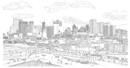 how to draw cityscapes in google