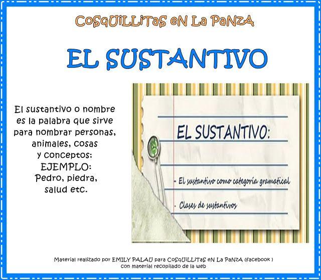 CoSqUiLLiTaS eN La PaNzA BLoGs: EL SUSTANTIVO C/ ACTIVIDADES