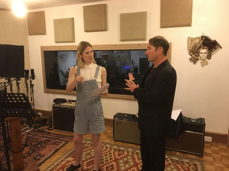 Actor Vanessa Moltzen and Producer David Steinhoff at Church Street Studios Camperdown Sydney Australia
