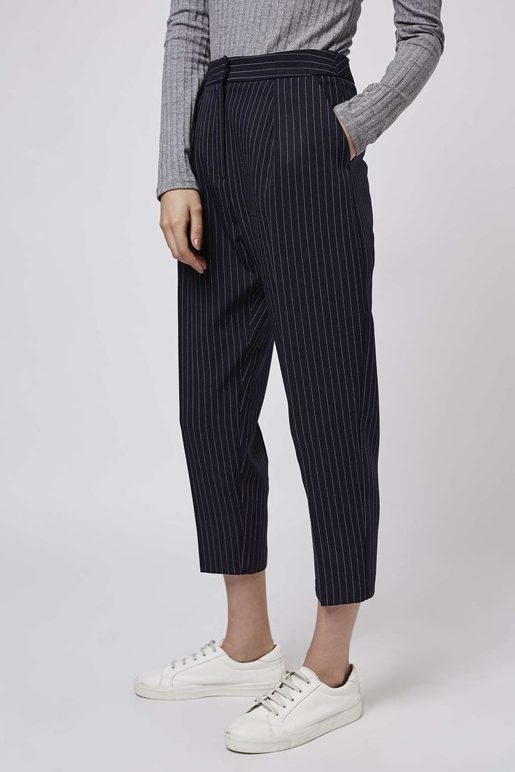 Photo 3 of PETITE Pinstripe Peg Trousers
