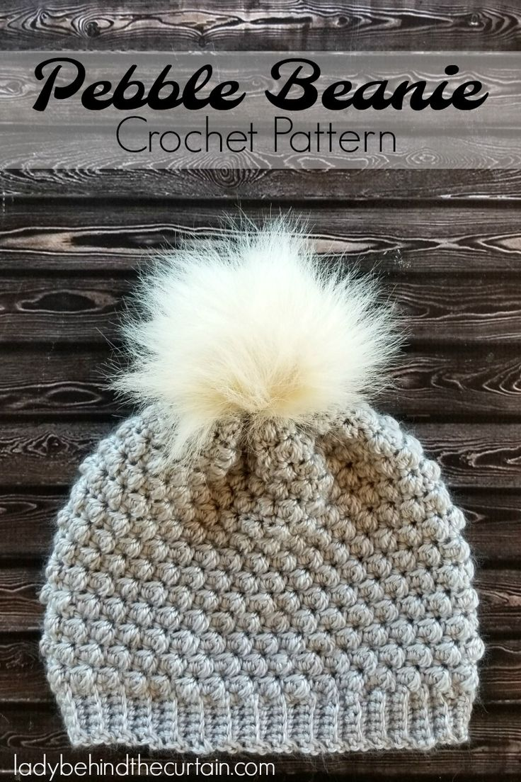 Pebble Beanie Crochet Pattern | This beanie uses the unique pebble stitch! It gives a beautiful texture to the fabric. This beanie is worked from the botto