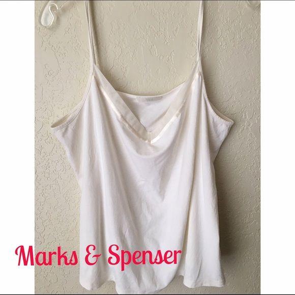 Marks and Spenser Cream Camisole, Size 20UK, 16 US Soft Cream Camisole by Marks & Spenser UK , Size 20 . Very pretty size 16 US Marks and Spenser Tops Camisoles