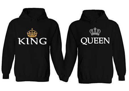 Southern Sisters Designs - King and Queen Couples Hoodies Set, $42.95 (http://www.southernsistersdesigns.com/king-and-queen-couples-hoodies-set/?gclid=Cj0KEQiApruyBRCFqoDu1pbk9rkBEiQAF8EFdUG15OknkBontQDxRflchigI7Tp6OE4hQT0rObywT_AaAtC88P8HAQ/)
