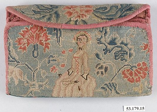 Linen embroidered with wool  1725-40