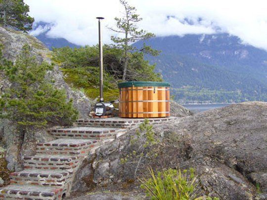 Natural Wooden Hottubs from SeaOtter Woodworks