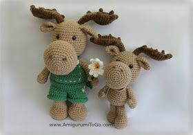 Amigurumi To Go: Little Bigfoot Moose / FREE pattern