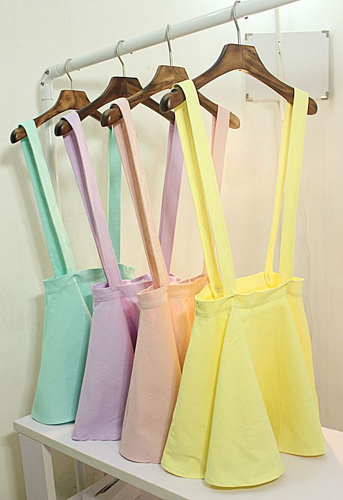 Pastel Suspender Skirt from pastel ♡ mint on Storenvy. Awwwwwwww the cutest thing ever! want these so much!