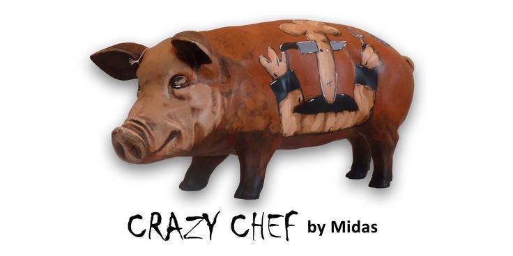 Artpig Crazy Chef  Leef mee met de personages van Midas Pandorra, bekijk het varken vanuit alle hoeken zodat je er een beter beeld van krijgt! Een echt uniek item.