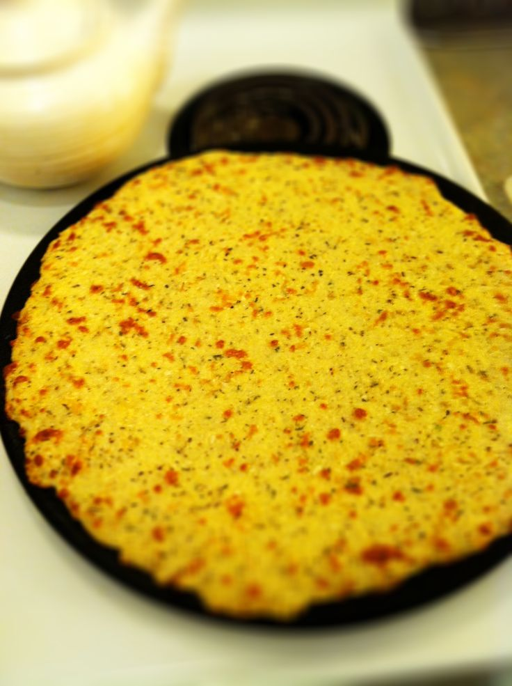 Cauliflower Pizza Crust! This site looks promissing for all around healthier eating recipes :D