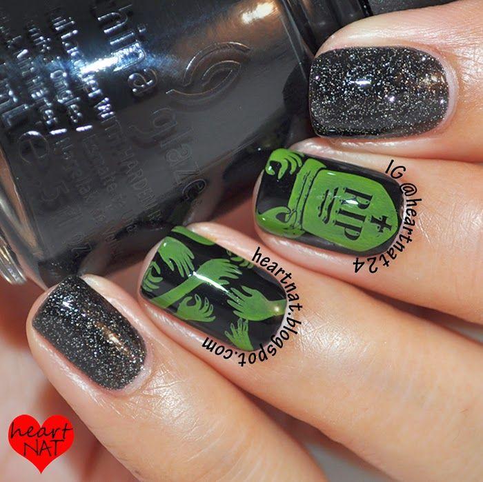 Untote Halloween-Nägel   – Hair, Nails and Beauty Tips