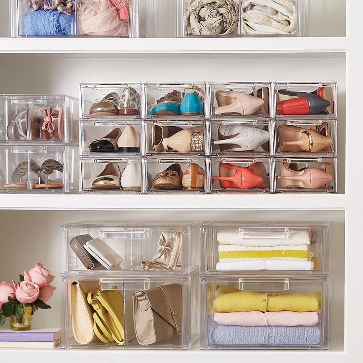Clear Shoe Drawers - Clear Stackable Shoe Drawer | The Container Store
