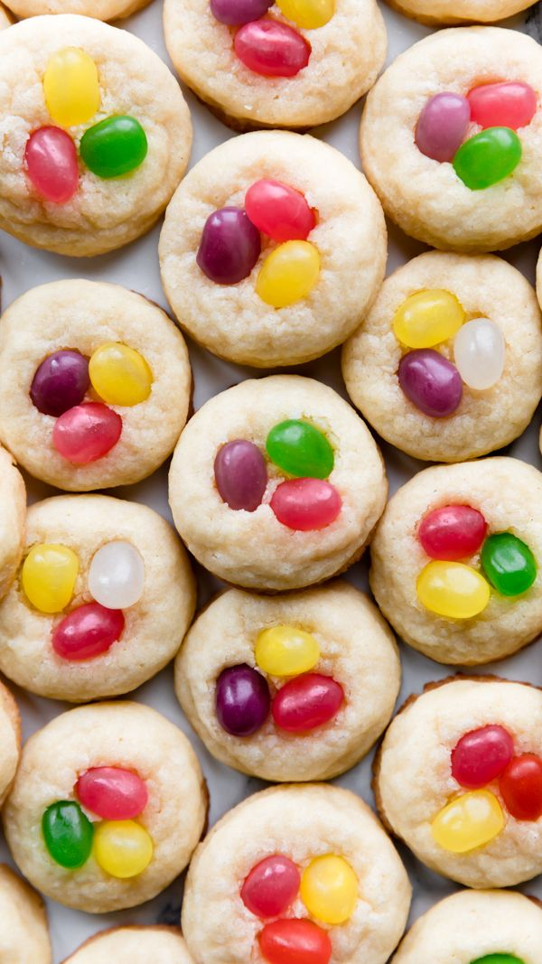 make a batch of jellybean sugar cookies for easter dessert there s only 9 easy ingredients required for t sugar cookies chewy sugar cookies drop sugar cookies pinterest