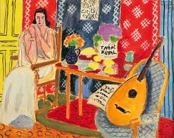 Matisse print in my kitchen that I love: Matisse Paintings, Oil On Canvas, Tabac Royals, Tabac Royal1943, Colors, Henry Matisse, Art Installations, Guitar, Henri Matisse
