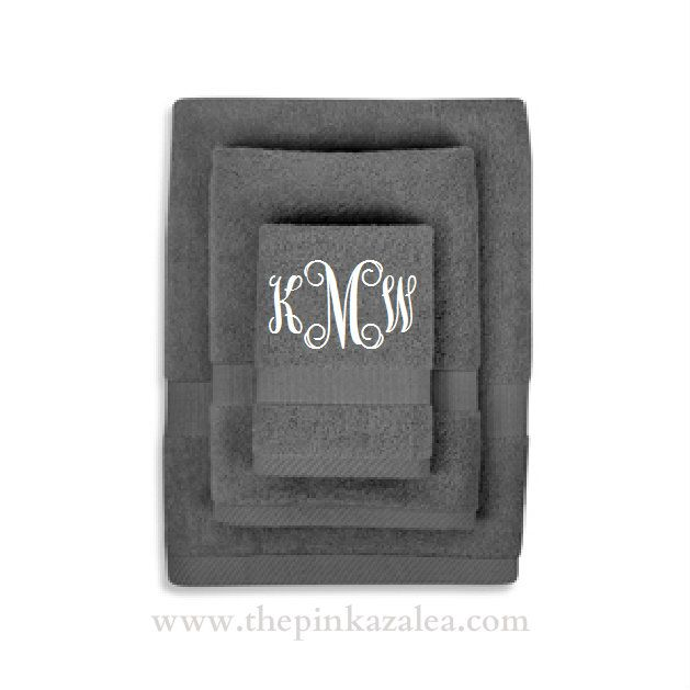 Monogrammed Bath Towel Set - really want these for master bath