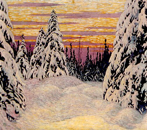 Spruce and Snow c.1916 Lawren Harris