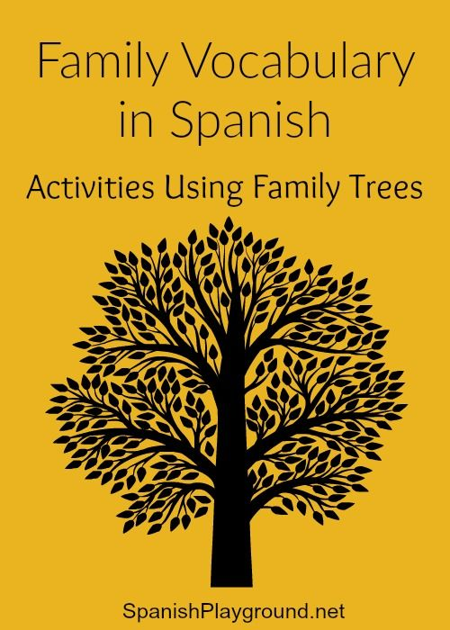 Spanish writing activity about family