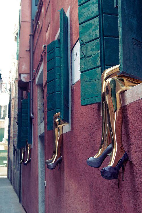 Louis Vuitton Shoe Art in Venice