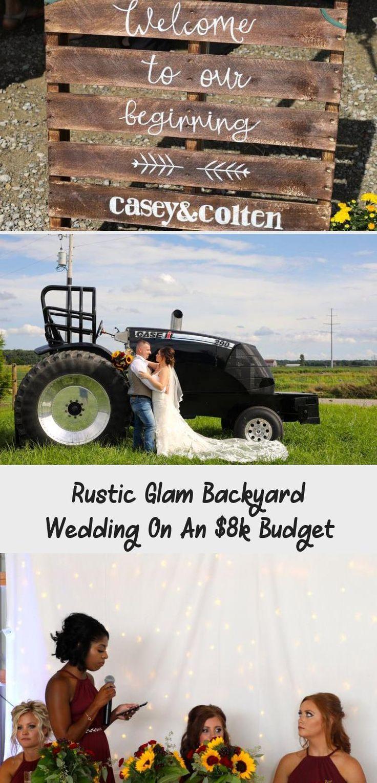 Rustic Glam Backyard Wedding | The Budget Savvy Bride | Wine bridesmaid dresses from David's Bridal | burgundy wedding | sunflower bridal bouquet #BridesmaidDressesIndian #BridesmaidDressesTeaLength #BridesmaidDressesLace #GrayBridesmaidDresses #BridesmaidDressesWithSleeves