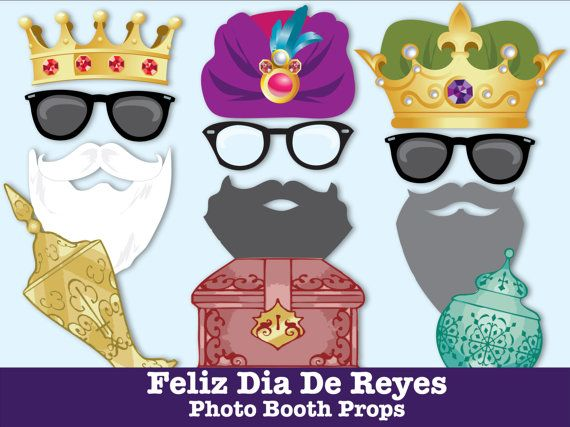 Feliz Dia de Reyes Photo Booth Props 3 Wise by SimplyEverydayMe