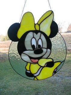 Minnie mouse stained glass - Google Search