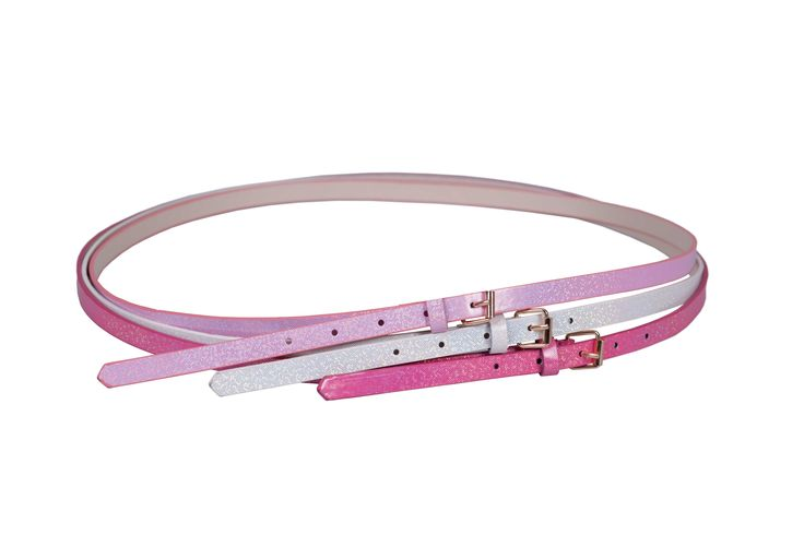 Edgars Three Pink Belts.