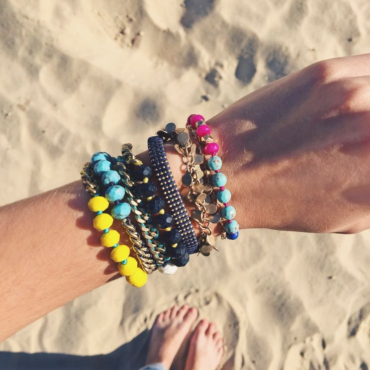 Take your arm party to the beach — or anywhere! Available now in my boutique