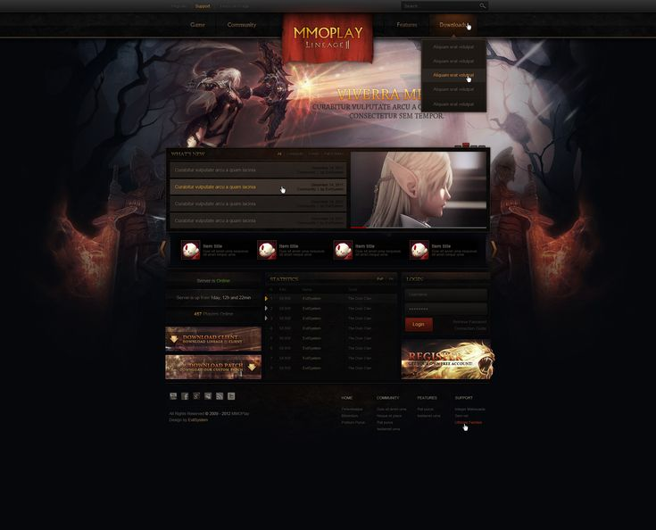 Lineage    Web Design - SOLD by Evil-S.deviantart.com on @deviantART