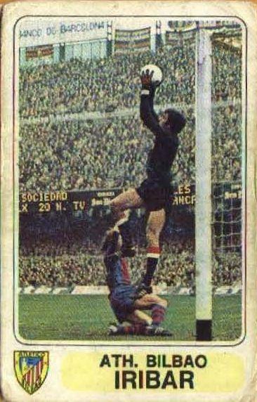 Cromos del Athletic Club de Bilbao. Temporada 1977-78. Editorial Este. Cromo de Iríbar. Athletic Club de Bilbao. Temporada 1977-78. ...
